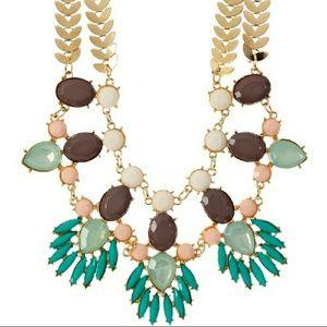 🌿18k Gold Mint Spring Leaf Resin Necklace